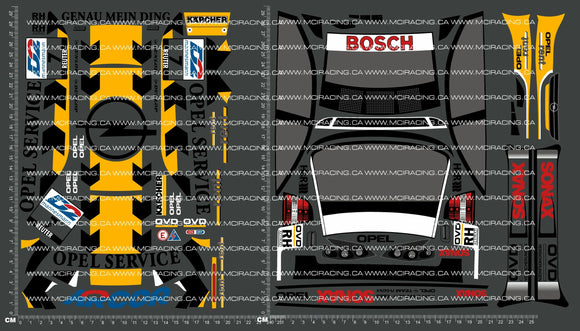 1/10TH TAM 58263 - OPEL V8 COUPE DECALS