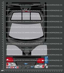 1/10TH TAM 58222 - FORD SVT-150 DECALS