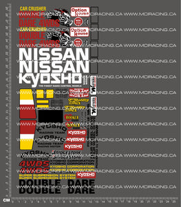 1/10TH KYOSHO - DOUBLE DARE DECALS