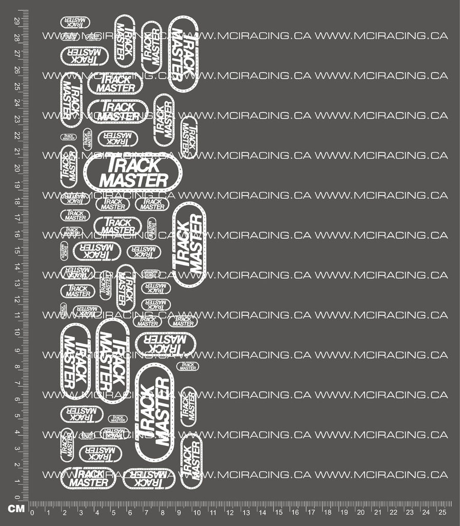 1/10TH TRACK MASTER DECALS