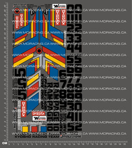 1/10TH KYOSHO - RAMPAGE DECALS