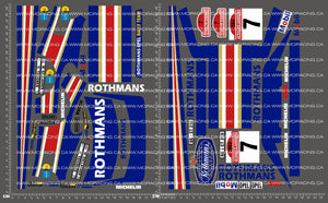 1/10TH OPEL MANTA - ROTHMANS DECALS