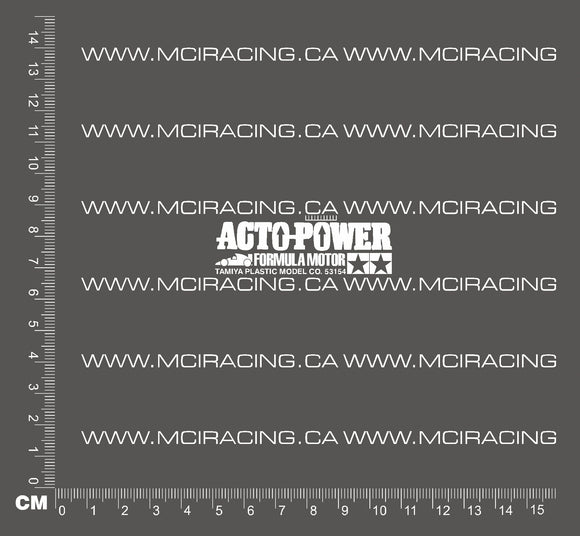 540 MOTOR DECAL - ACTO-POWER FORMULA MOTOR