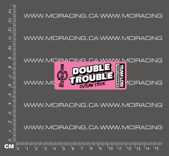 540 MOTOR DECAL - LOSI - DOUBLE TROUBLE