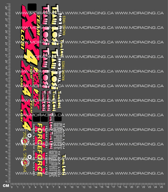 1/10TH LOSI - XX-4 DECALS