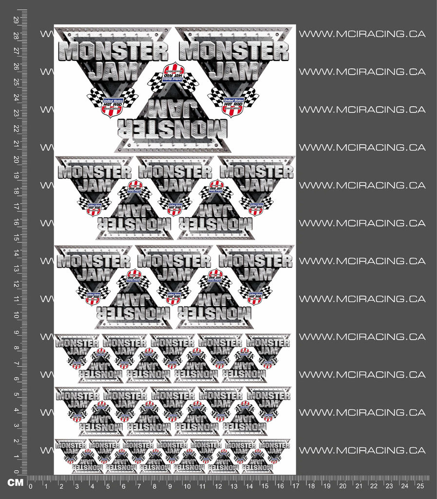 1/10TH MONSTER TRUCK - HOT ROD JAM DECALS