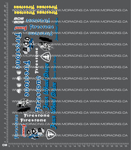 1/10TH MONSTER TRUCK - FOUR WHEEL DRIVE DECALS FB