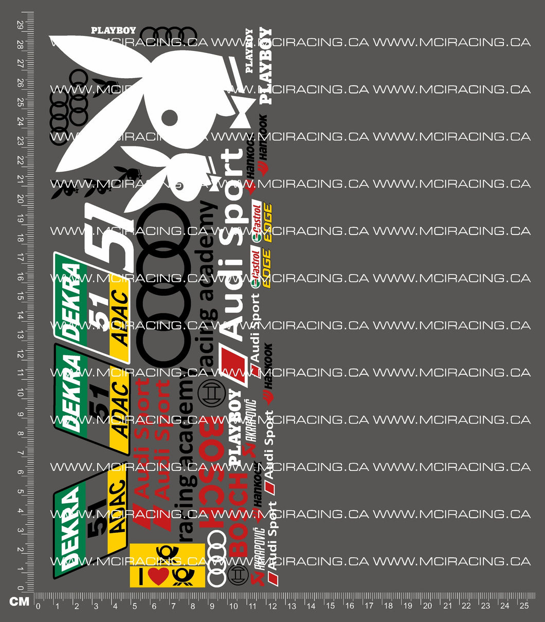1/10TH DTM - PLAYBOY V2 DECALS