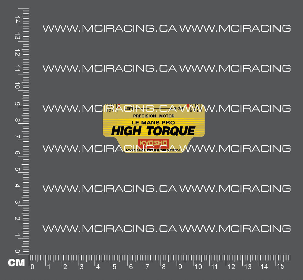 540 MOTOR DECAL - LE MANS PRO - HIGH TORQUE