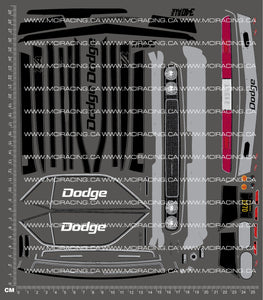 1/10TH HPI - TRANS AM - 1970 DODGE CHALLENGER DECALS