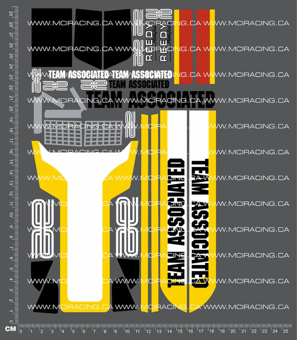 1/10TH ASSOCIATED - RC10 - PROTECH 2 - COMPETITION EDITION BOX ART DECALS