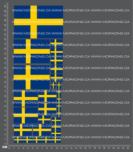 1/10TH FLAGS - SWEDEN DECALS