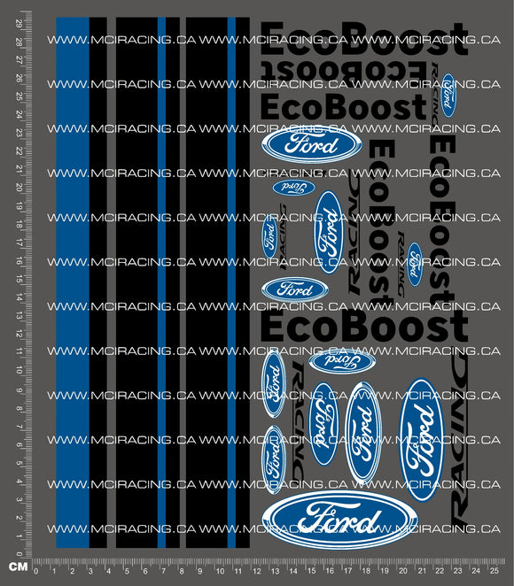 1/10TH FORD - ECO BOOST DECALS