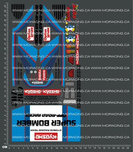 1/10TH KYOSHO - SUPER BOMBER DECALS