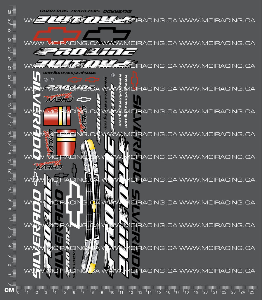 1/10TH PRO - CHEVY SILVERADO DECALS