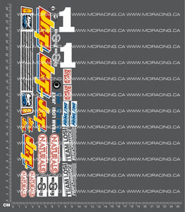 1/10TH LOSI - JRX-T DECALS