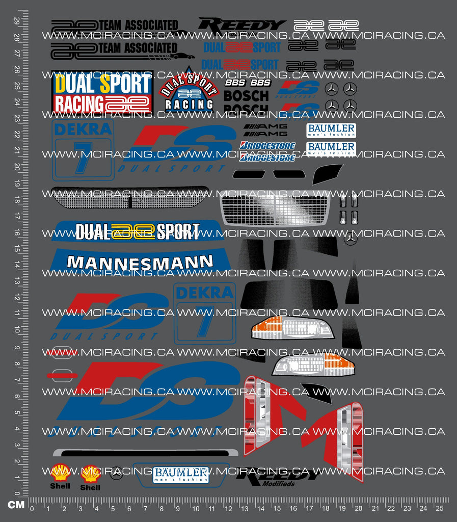 1/10TH ASSOCIATED - RC10 DS - MERCEDES D2 DECALS