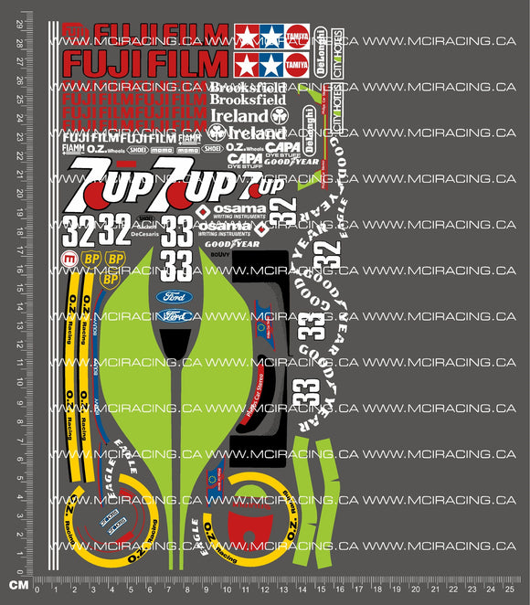 1/10TH TAM 58103 - F1 JORDAN 191 DECALS