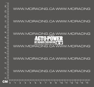 540 MOTOR DECAL - ACTO-POWER OFF ROADER 2WD MOTOR