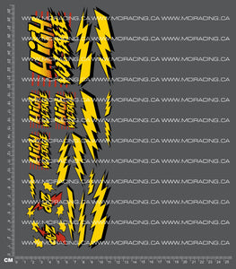 1/10TH HIGH VOLTAGE DECALS