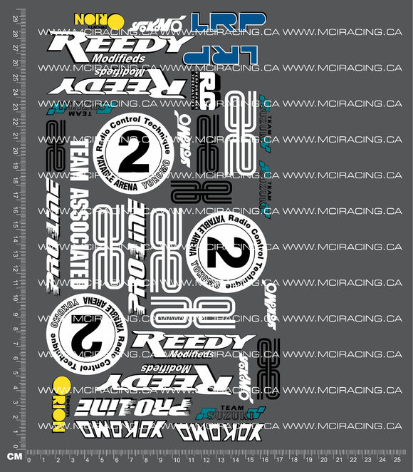 1/10TH YOKOMO - YZ-10 - MARK PAVADIS WORLDS DECALS