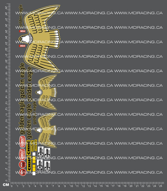 1/10TH MARUI - GOLDEN EAGLE DECALS