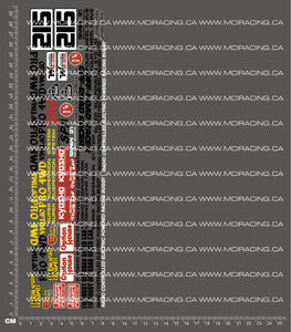 1/10TH KYOSHO - OPTIMA PRO 4WD DECALS