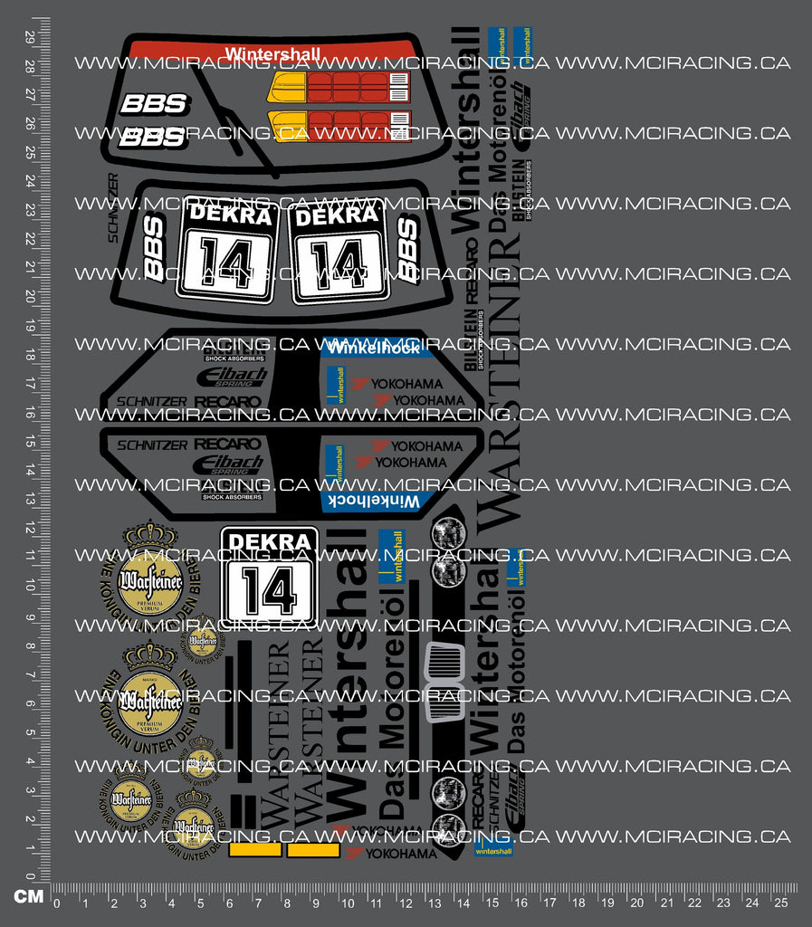 1/12TH BMW M3 - WARSTEINER DECALS