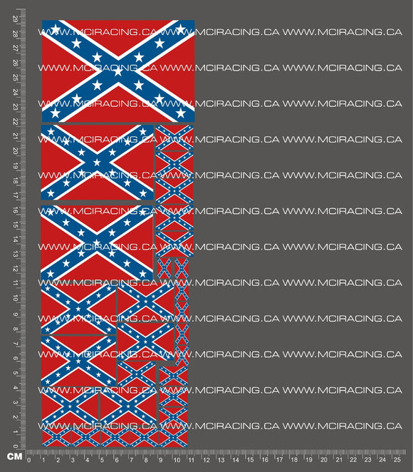 1/10TH FLAGS - REBEL GENERAL LEE DECALS