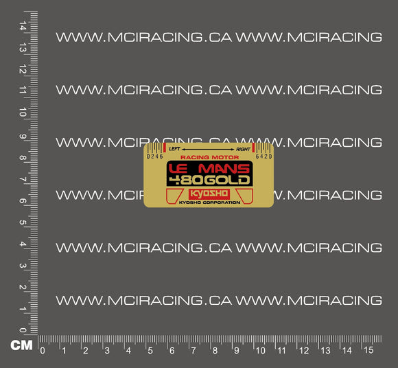 540 MOTOR DECAL - KYOSHO LEMANS 480 GOLD