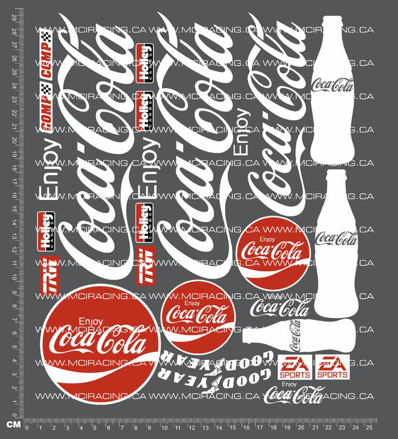 1/10TH SHORT COURSE TRUCK - COCA COLA DECALS