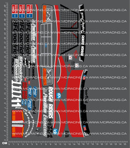 1/10TH TAM 58161 - F-150 RACING TRUCK DECALS