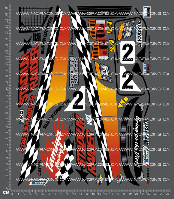 1/10TH TAM 58246 - STADIUM RAIDER DECALS