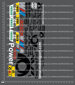 1/10TH DTM - DEUTSCHE POST DECALS