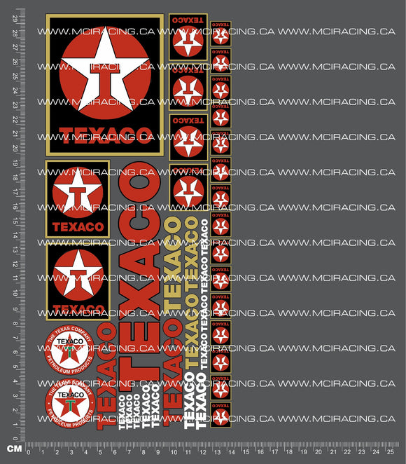 1/10TH TEXACO VERSION 2 DECALS