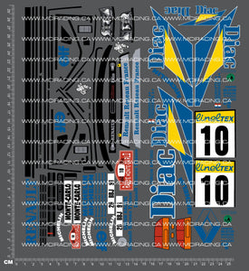 1/10TH TAM 58138 - RENAULT CLIO WILLIAMS DECALS