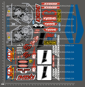 1/10TH KYOSHO - QUAD RIDER ATV DECALS - VERSION 1