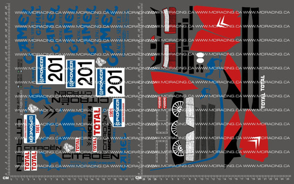 1/10TH KYOSHO - CITROEN ZX RALLY RAID DECALS