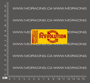540 MOTOR DECAL - LOSI RACING REVOLUTION MOTORS - YELLOW