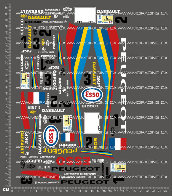 1/10TH PEUGEOT 905 DECALS