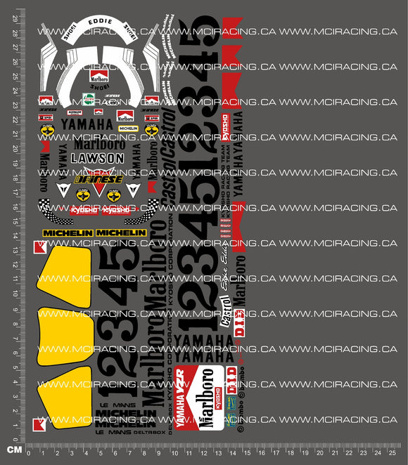 1/8TH KYOSHO - MK1 MOTORCYCLE - YAMAHA YZR 500 - MARLBORO DECALS