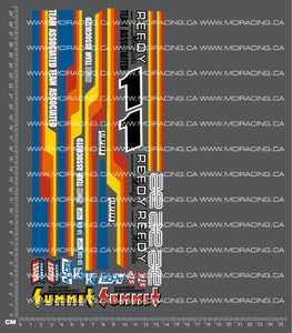 1/10TH ASSOCIATED - RC10 - TQ10 BOX ART DECALS