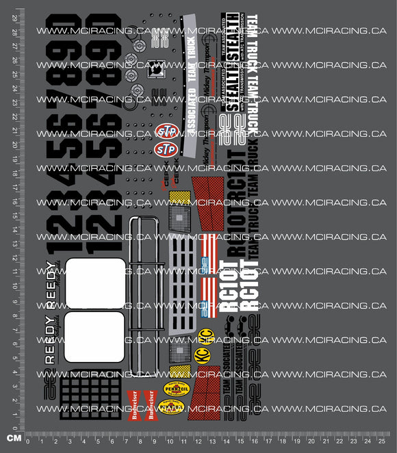 1/10TH ASSOCIATED - RC10-T - TEAM TRUCK DECALS