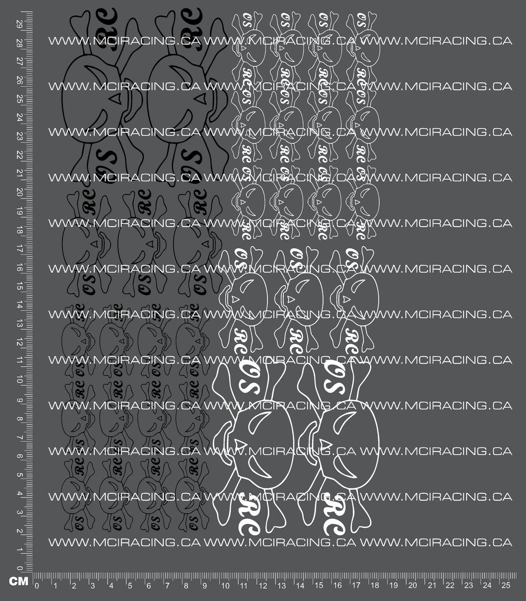 1/10TH OLD SCHOOL RC OSRC - SKULL DECALS
