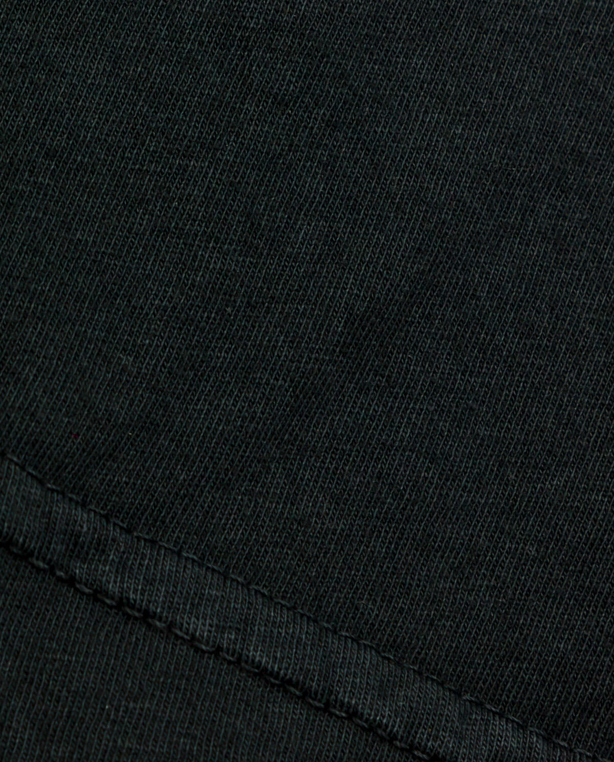Ahnako Basic Tee Shirt - Vintage Black - Fabric Close Up