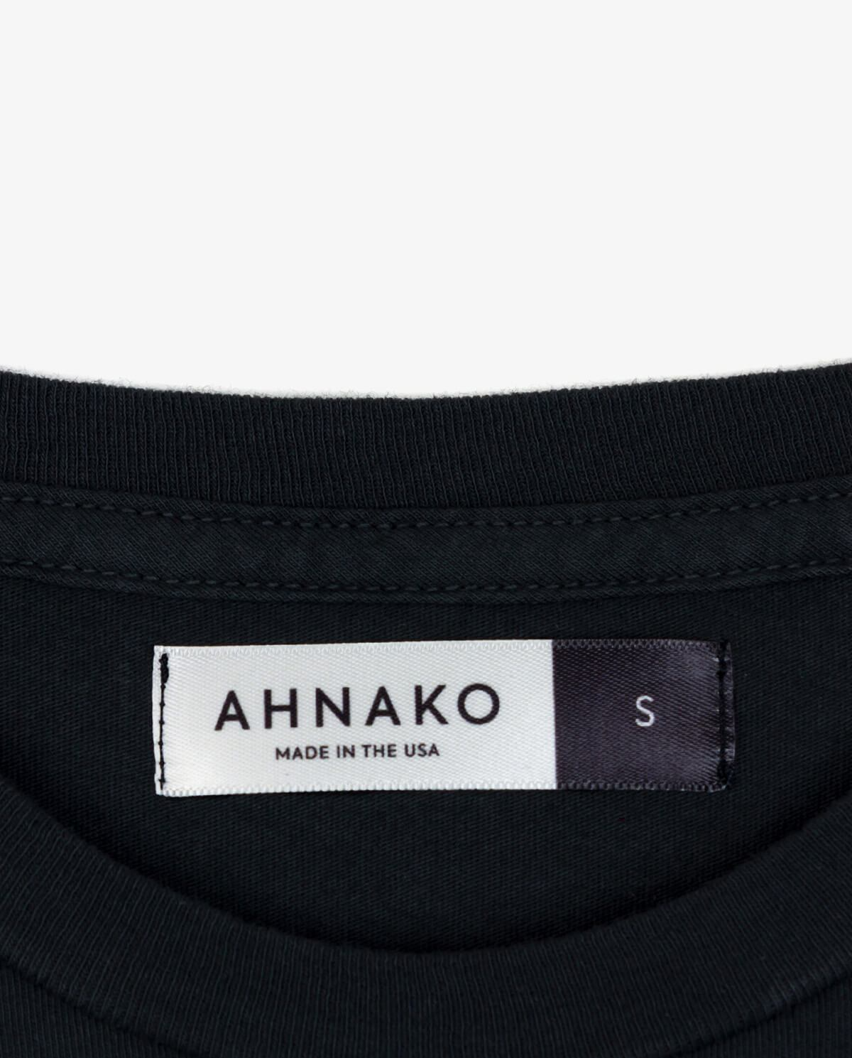 Ahnako Basic Tee Shirt - Vintage Black - Clothing Tag