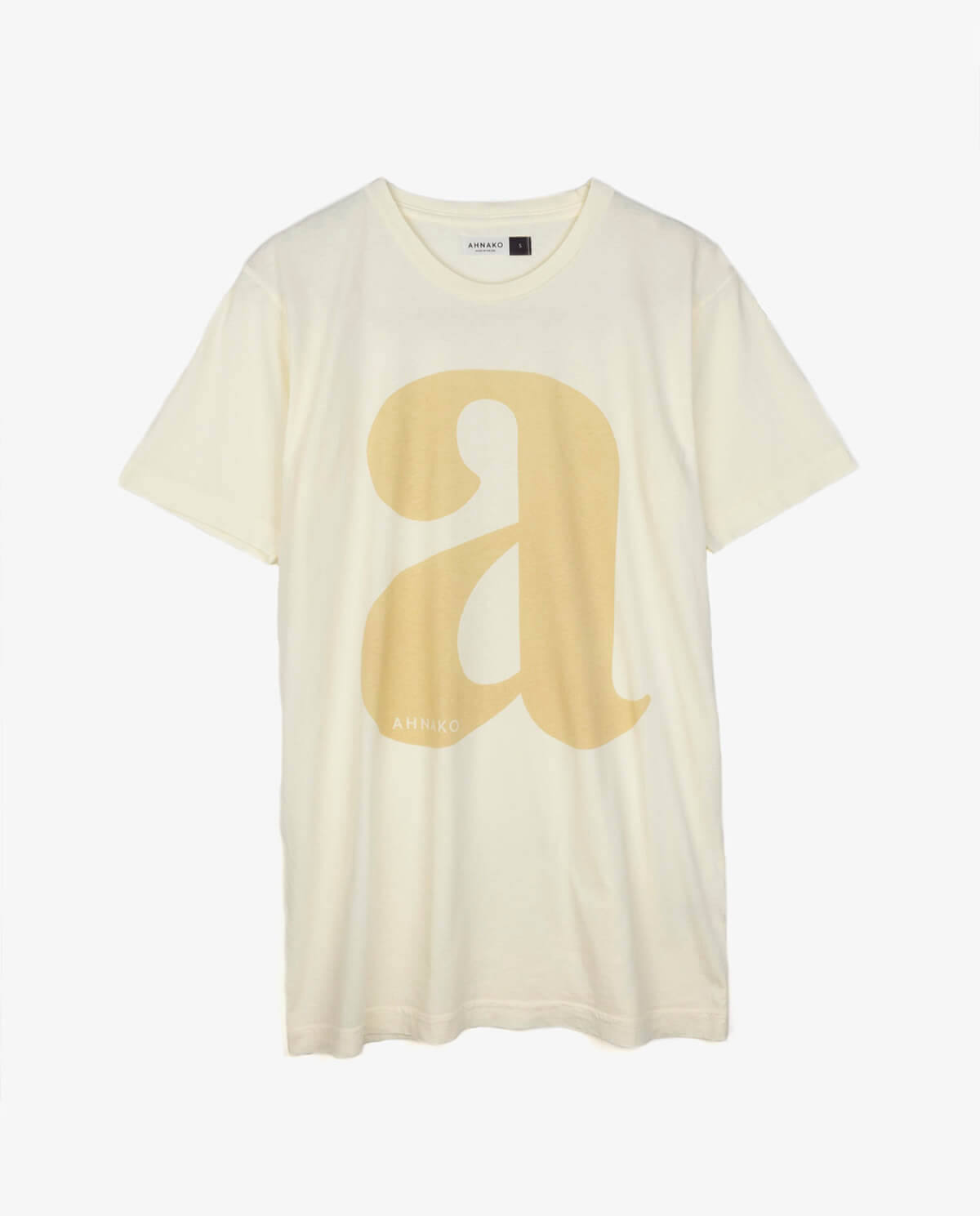 "Ahnako Lowercase ""a"" - Cream T-shirt"