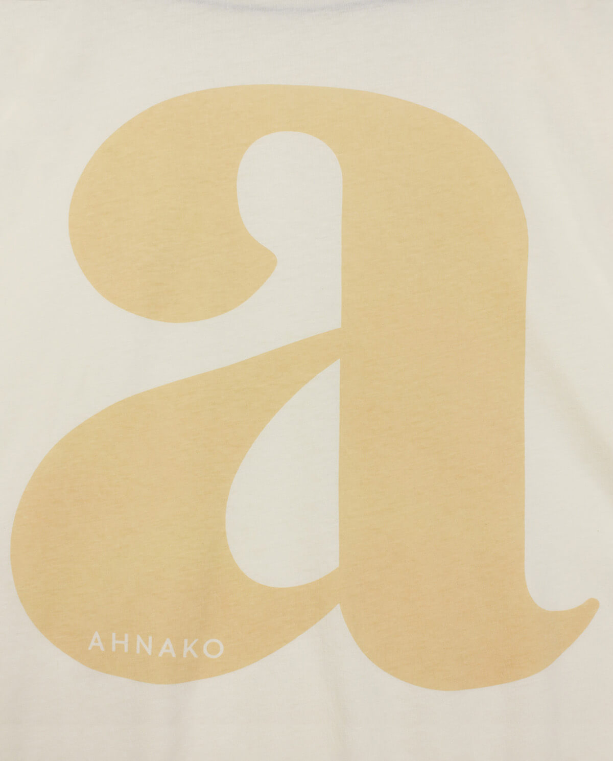 "Ahnako Lowercase ""a"" - Cream"