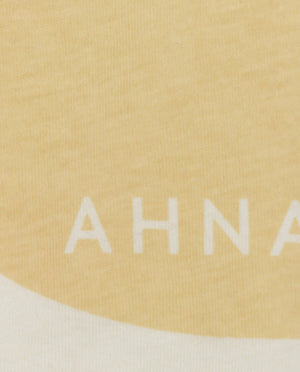 "Ahnako Women's Lowercase ""a"" - Cream Close Up"
