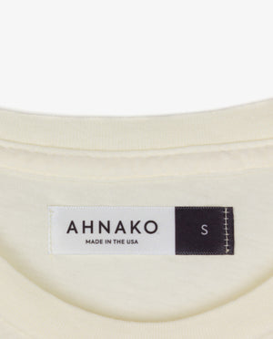 "Ahnako Lowercase ""a"" - Cream T-shirt - Clothing Tag"